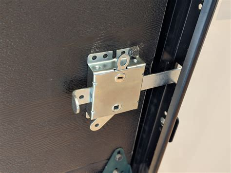 garage door side lock with loaded bolt ideal