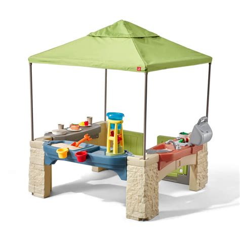 step 2 playtime patio uk step2 all around playtime patio with canopy uk step2 874100