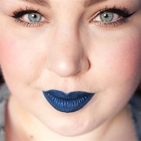 colored lipstick metallic blue coloured raine blue liquid