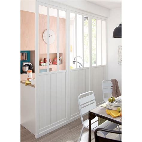 cloison amovible atelier blanc h 240 x l 80 cm leroy merlin