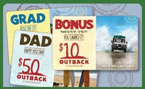 Outback Gift Card Bonus - outback steakhouse bonus 10 gift card who said nothing in life is free