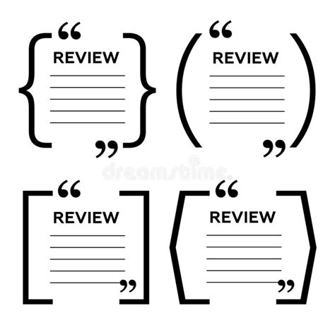 Website Review Quote Citation Blank Template Website Review Icon Quote Comment Template Quote Customer Review Website Template