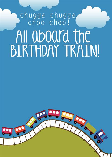 engine birthday card template themed birthday with free printables how to