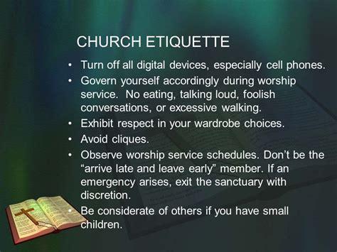 baptist church etiquette