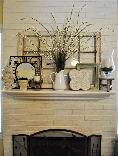 brick rustic mantel decor for classic fireplace with frame fresh but vintage love becca burslem ideas decor