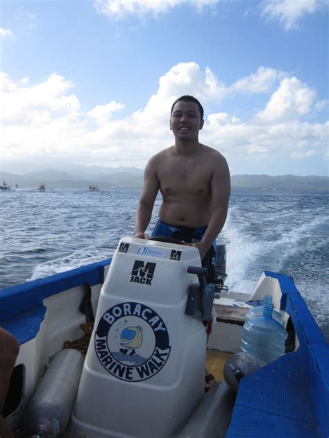 speed boat driving marine walk at boracay island philippines philippines