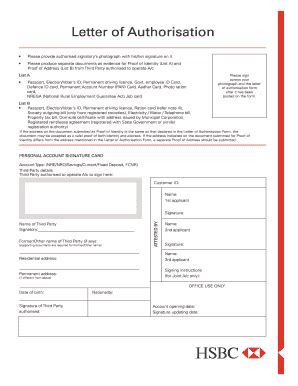 authorization letter hsbc authority to remit fill printable fillable