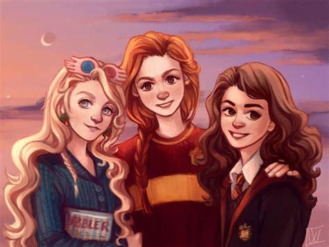 Ginny Weasley Hermione Granger by Lovegood Ginny Weasley And Hermione Granger By
