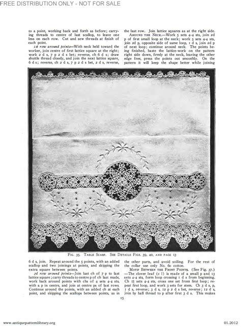 antique pattern library priscilla apl b ja034 priscilla tatting book no 2 page 16
