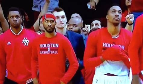 rockets bench rockets bench surprisingly unenthusiastic after james