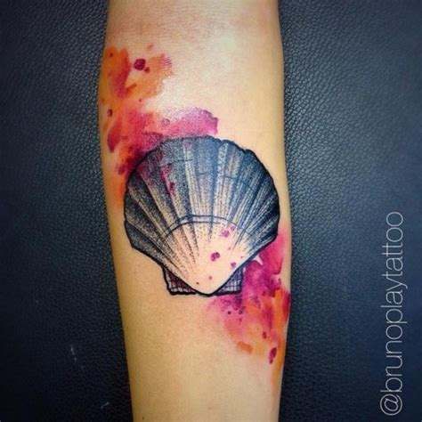 sea shell tattoo best tattoo ideas gallery