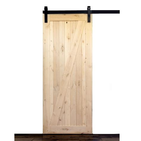 Krosswood Doors 36 In X 84 In Krosswood Knotty Alder 1 Barn Door Slab