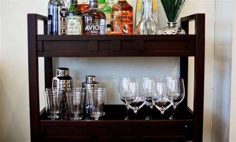 The Perfectly Styled Bar Cart   Fashionable Hostess