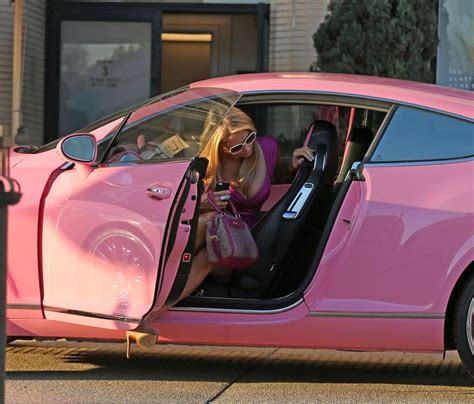 hilton bentley paris hilton and her pink bentley in los angles