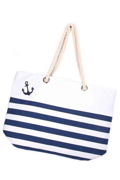 Anchor Stripe Bag anchor striped bag bags clutches