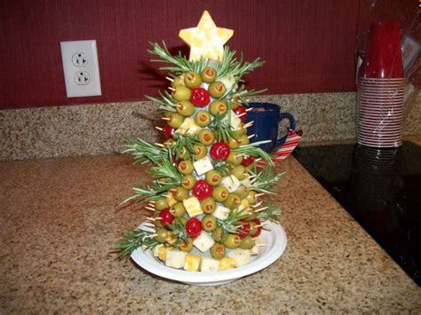 appetizer christmas tree cheese appetizers pinterest