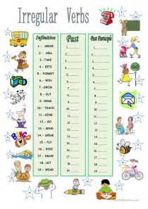 irregular verbs worksheet free esl printable worksheets