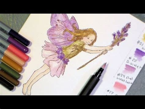 tutorial on using watercolor pencils tutorial fairy with watercolor pencils and blender pen