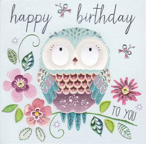 Owl Birthday Card The Gallery For Gt Owl Happy Birthday Card