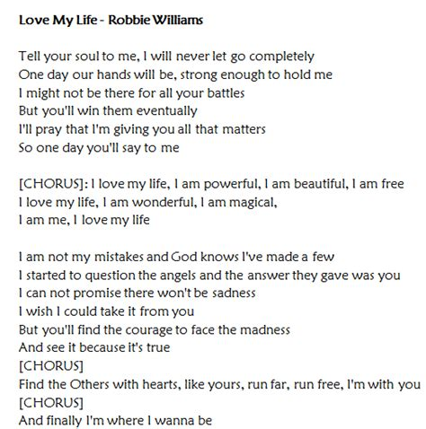 my lyrics williams my di robbie williams traduzione testo e
