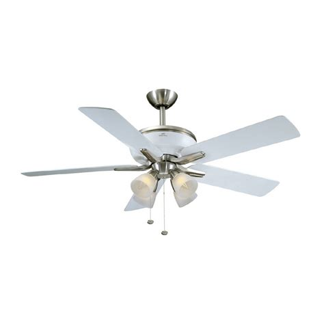 polished nickel ceiling fan shop harbor 52 quot tiempo brushed nickel white
