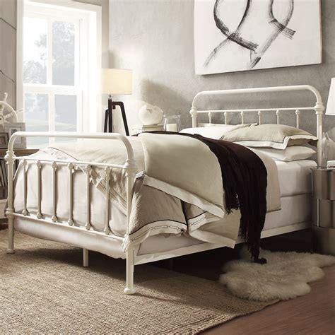White Iron Beds by Metal Bed Frame White Antique Iron King