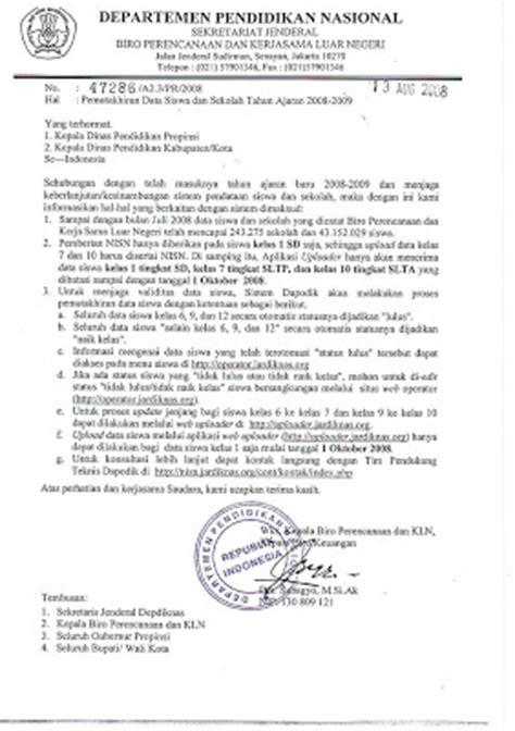 contoh surat dinas resmi berita informasi terbaru update