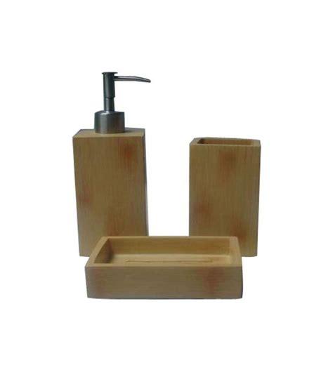 lavabo set set lavabo bamboo marron
