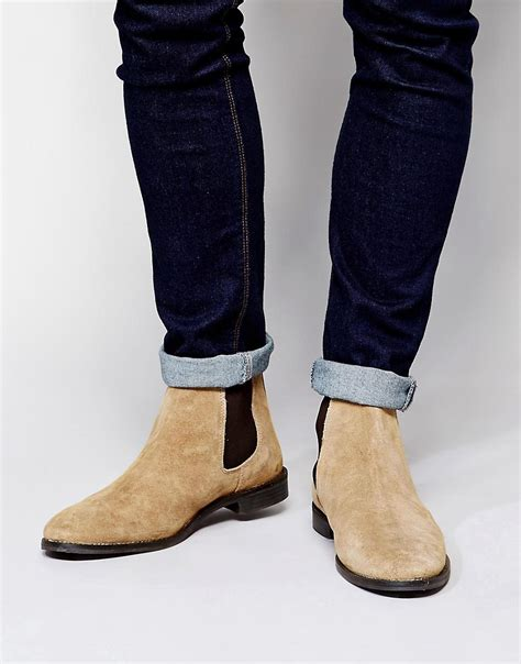 asos asos chelsea boots in suede at asos