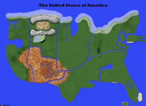 us minecraft map terrain map out now usa minecraft project