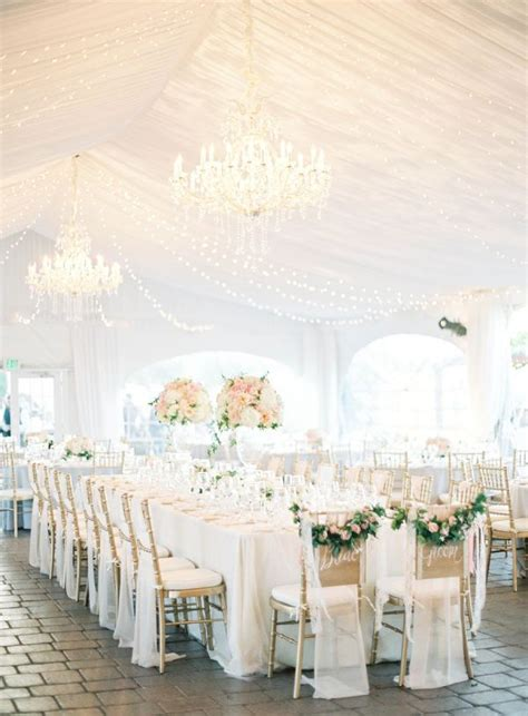 White Wedding Decorations by Best 25 White Wedding Receptions Ideas On All