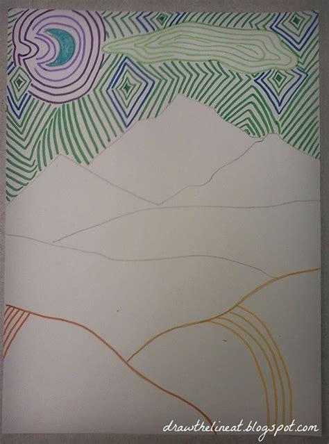 line art portrait tutorial line landscape drawing google search fall art projects