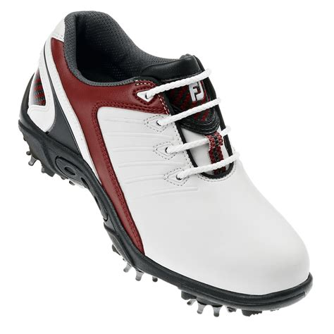 youth golf shoes footjoy junior golf shoes white 2012 golfonline