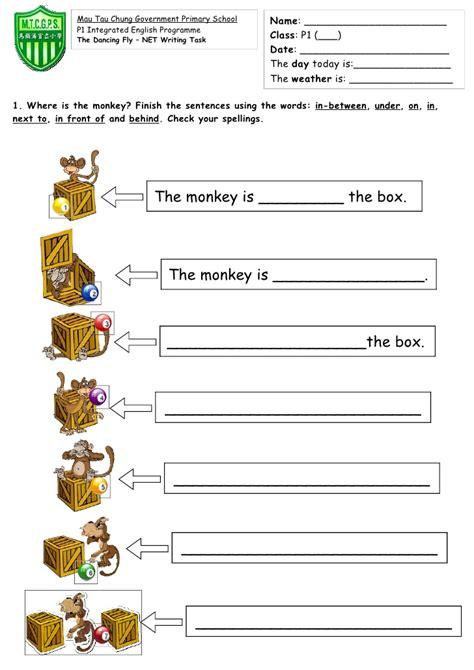 Prepositions Worksheet by Prepositions Of Place Worksheet 5th Grade Esl Printable