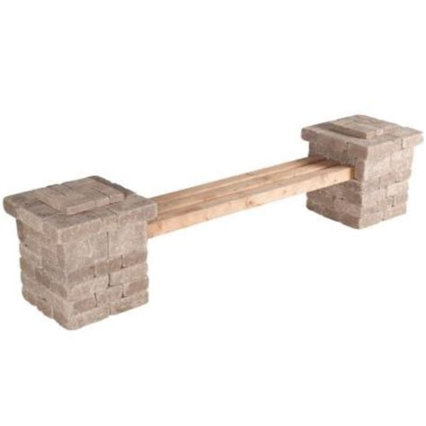 bench kits home depot pavestone rumblestone 103 5 in x 26 2 in rumblestone