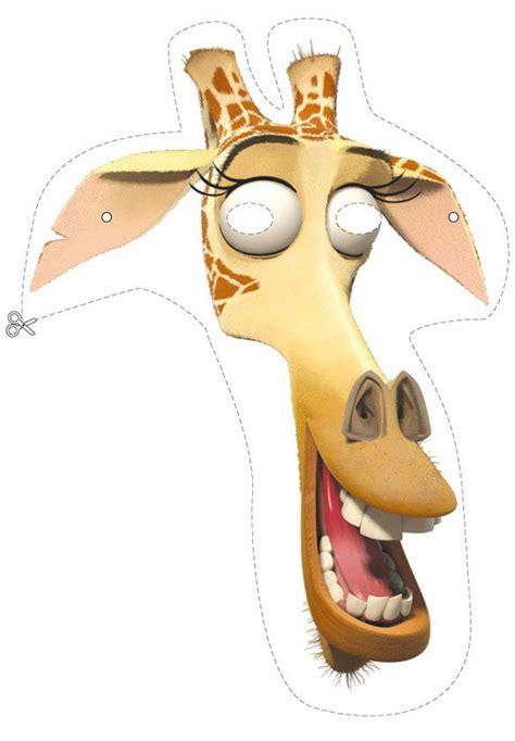 imagenes de jirafas de madagascar how to craft melman the giraffe mask hellokids com