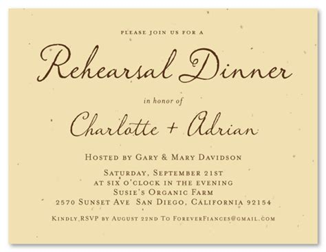 wedding rehearsal dinner invitation wording sles green rehearsal dinner invitations antique script by