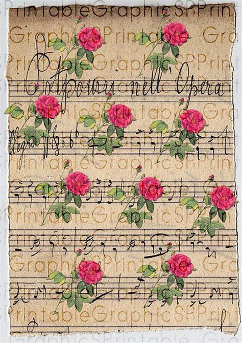 free printable vintage wrapping paper digital wrapping paper gift wrapping vintage roses music