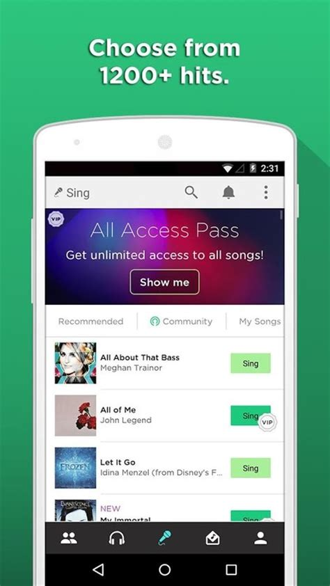 karaoke app android sing karaoke by apk free android app appraw