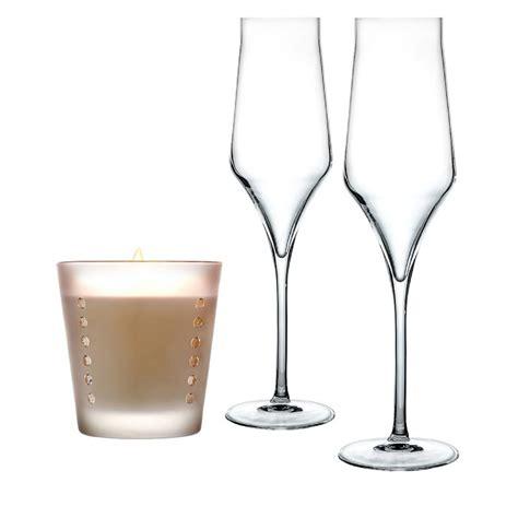 flute bicchieri pacchetto regalo bicchieri flute e candela laboratorio