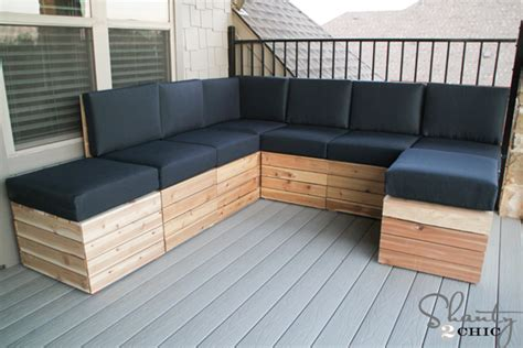 diy outside seating area diy modular outdoor seating shanty 2 chic