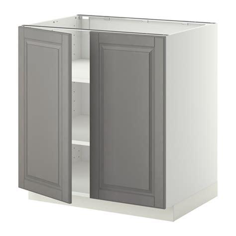 Ikea Kallax Sisipan Rak Abu Abu Muda metod kabinet dasar dg rak 2 pintu putih bodbyn abu abu