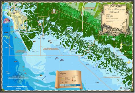 map of the islands and florida florida maps ten thousand islands island map store