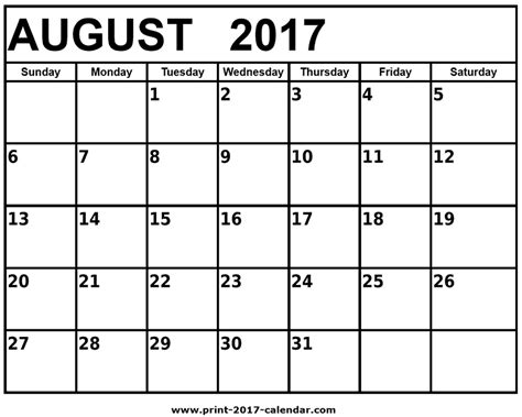 free printable calendar with pictures free printable 2017 calendars august 2017 printable calendar