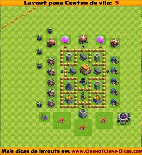 layout para cv 5 layouts para centro de vila 5 para clash of clans clash