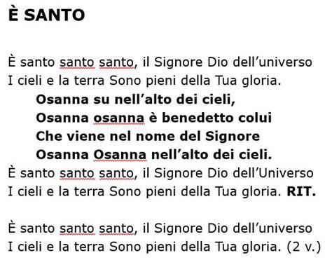 santos testo eleno testi canzoni 171 parrocchia di san lorenzo da brindisi