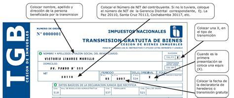 ejemplo de formulario impuestos de inmuebles impuesto a la transmision gratuita de bienes inmuebles