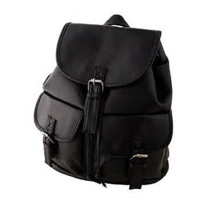 Cheap Cowhide Cute Black Backpack Backpack Tools