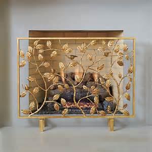 golden bird decorative fireplace screen gump s