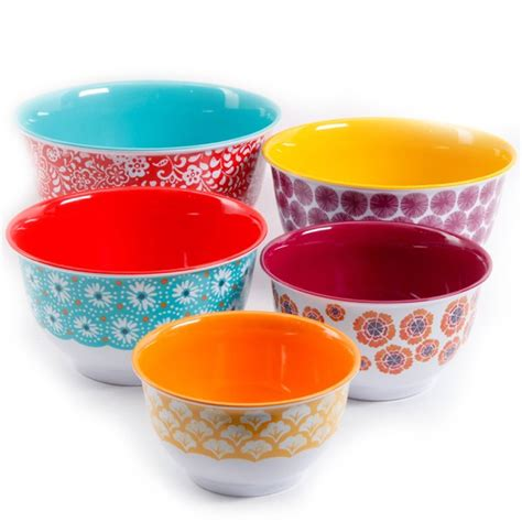 bowl colors mixing bowl set with lids 10 nesting traveling vines